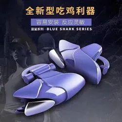 PUBG Mobile Metal Blue Shark Handle Game Shooting Controller