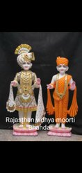 Painted Marble Swami Narayan Statue