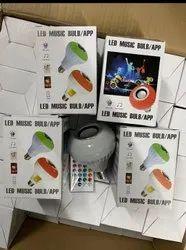 Multi Colour LED Music Light Bulb, For Home