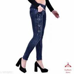 Bottom Zipper Girl's Designer Skinny Jeans