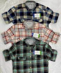 Cotton Checked Double Pocket Casual Shirts