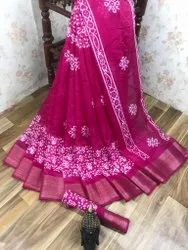 Soft Cotton Saree With 5 Inch Zari Borders