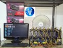 8 GPUs Ethereum Mining Rig of 6700xt 368mh
