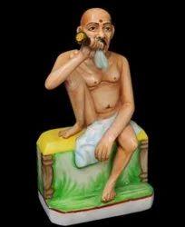 Whit marble Gajanand  swami statue2 feet