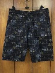Blue Cotton Shorts, Size: 28 To 38