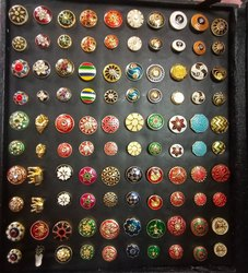 Multicolor Metal Royal fancy mina coat button, Size/Dimension: 18-22mm