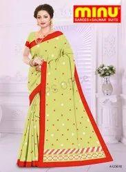 Minu Cotton Embroidery Komal Saree