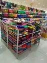 Textile shop display rack