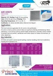 Aryan Screw Fit & Snap Fit Air vent, Capacity: 5000 Per Day