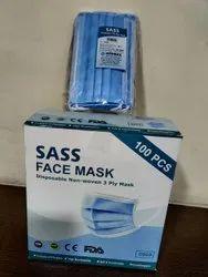SASS 3 Ply Surgical Non Woven Face Mask