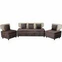 Brown Fabric Sofa Set, For Home