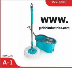 Spin Mop With Bucket Stainless Steel Bowl