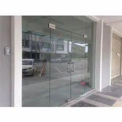 Hinged Plain Toughened Glass Door, Thickness: 12mm