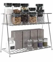 Stainless steel Silver Multifunctional Kitchen Rack