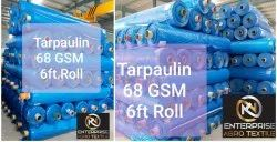 Plastic 68gsm Blue to Blue Roll