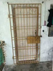 M.s Single Door Main Gate Safety Doors, For Commercial, Size: 7'x3'