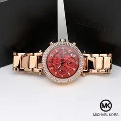 Wedding Wear Round Women Mk Watches, For Formal