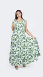 Women Cotton Skirt Top Set