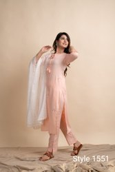 Casual Wear Regular Ladies Designer Kurti Set
