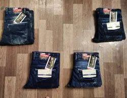 Plain Mens Black Regular Fit Denim Jeans, Waist Size: 28-38