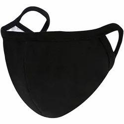Customized Printing Cotton Face Mask Black Colour
