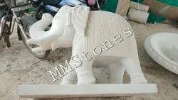 Stone Elephant Statue 4'