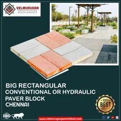 Big rectangular paver block