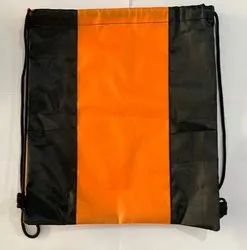Black And Orange Polyester Bag, Size/Dimension: 15 Inch X 16 Inch