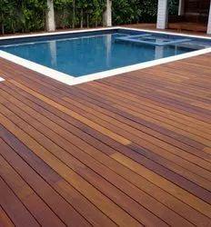 Swimming Pool Wooden Flooring