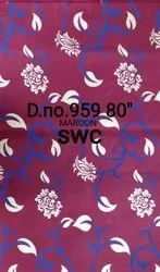 Multicolor Polyester Roto Gold Fabric, 80 Gsm