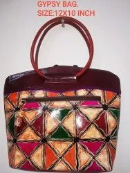 JAYSREE Women LEATHER GYPSY BAG, Size: 12x10 Inches