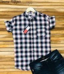 Cotton Collar Neck Tommy Hilfiger Men Shirt