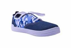 Gnx Blue Canvas Shoes, Size: 31 To 36