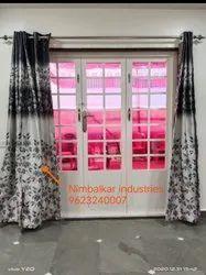 Modern White Galvanized Steel Folding Door, For Residential, Size/Dimension: 6x5ft