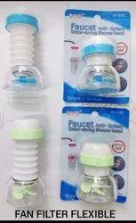 White Polystyrene 360 Degree Water Saving Faucet Adjustable