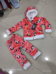 mix prints Flannel Kids Fur Suits
