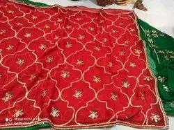 Beautiful pure Chiffon sarees with pure kacha gota