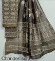 Printed Chanderi Silk Dress Material with Dupatta.......