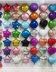 Star and heart foil balloon