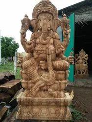 Wooden Ganesha 4 Feet