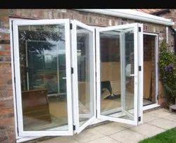 JINDAL Pristine White Aluminium Folding Sliding Door, For Home, Exterior