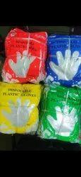 Disposable Transparent Plastic Gloves, Powder Free