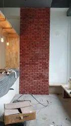 Clay brick wall cladding