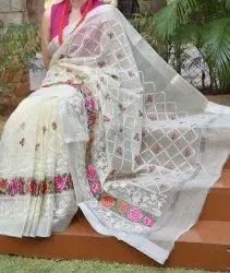Casual Wear Kota Doria Saree, With Blouse Piece
