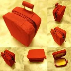 Red Leather Miniature travel suitcase, Size: 7cm