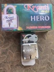 With Key Normal KRANTI HERO Square PADLOCKS 45MM, Packaging Size: 600PCS, Chrome
