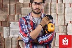 Brown Black Latex Rubber Coated Gloves Cut Resistant Level 1 EN 388 CE Certified