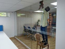 Frameless Glass Partition With Doors
