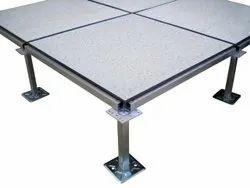 Commercial Building Metal Concrete & HPL False Flooring Service, For Indoor, SHOCKPROOF