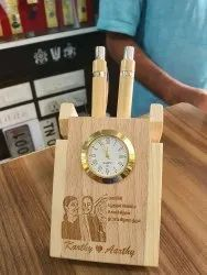 Wooden Table Pen Stand